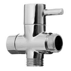 โปรโมชั่น Brass Uk 1 2 Shattaf Diverter Bathroom Shower Faucet Accessories Toilet Bidet Diverter Valve Chrome Plated Free Shipping Intl