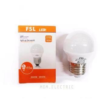 หลอดไฟ BULB LED 2W FSL สีวอร์ม