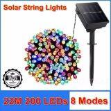 ราคา Bulekem Solar String Lights ไฟสาย 8 โหมด 200 Led พลังงานแสงอาทิตย์ ยาว 22 เมตร คละสี ใหม่