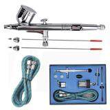 โปรโมชั่น Buyincoins Dual Action Airbrush Set 2Mm 3Mm 5Mm Needle Air Brush Spray Gun Paint Art Intl จีน