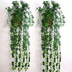 Buytra เทียมสีเขียวไม้เลื้อยใบยั่งยืน Garland Plantsg การตกแต่งบ้าน.