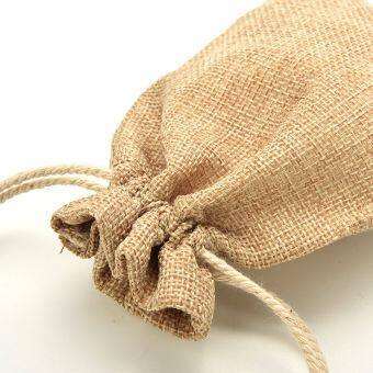 Buytra กระเป๋าถือขนาดเล็ก Burlap งานแต่งงานโปรดปราน 7*10 เซนติเมตร 5 ชิ้น