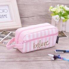 ขาย Canvas Pencil Case Large Capacity Pen Box Stationery Pouch Makeup Bag 1 Intl Unbranded Generic