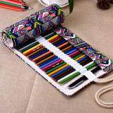 ซื้อ Canvas Wrap Roll Up Pencil Bag Pen Case Color 36 Holes Intl ถูก