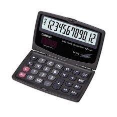 ราคา Casio เครื่องคิดเลข แบบพกพับได้ หน้าจอ 12 หลัก รุ่น Sx 220 W สีดำ ใหม่ ถูก