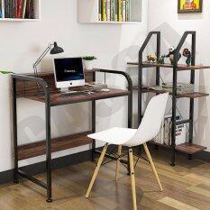 ซื้อ Cassa โต๊ะอเนกประสงค์ โต๊ะคอมพิวเตอร์ โต๊ะอ่านหนังสือ พร้อมราวกั้น ทั้ง2ด้าน ยาว104Cm สีดำ ลายไม้เข้ม รุ่น233 B281 104X50X88Bb ถูก กรุงเทพมหานคร