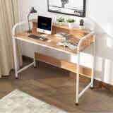 ขาย ซื้อ Cassa โต๊ะอเนกประสงค์ โต๊ะคอมพิวเตอร์ โต๊ะอ่านหนังสือ พร้อมราวกั้น ทั้ง2ด้าน ยาว104Cm สีขาว ลายไม้ รุ่น 234 B281 104X50X88Rw