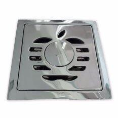 โปรโมชั่น Cassa ตะแกรงท่อระบายน้ำ สแตนเลส304 กันกลิ่น กันแมลง พร้อมช่องระบายน้ำเครื่องซักผ้า สำหรับห้องน้ำ 2In1 ทรงสี่เหลี่ยม ลายแอปเปิ้ลเหลี่ยม รุ่น C14 Ss201 Cs6 S