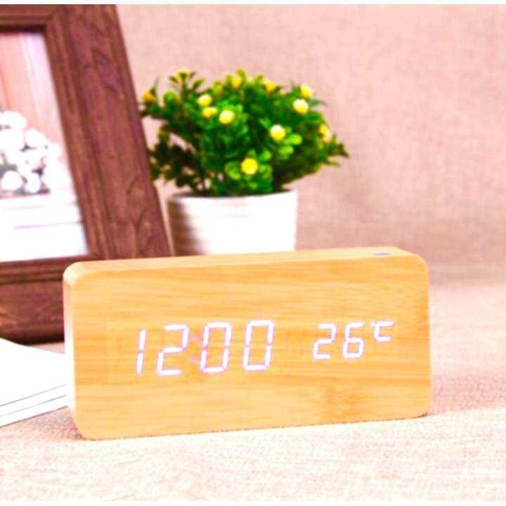 รีวิว Cassablu นาฬิกาตั้งโต๊ะ นาฬิกาปลุก นาฬิกาลายไม้ นาฬิกาดิจิตอล Wood Clock new step asia