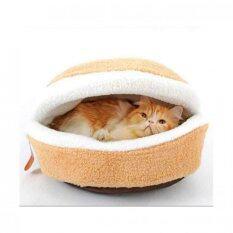 ซื้อ Cat Accessories ที่นอนแมวทรงแฮมเบอร์เกอร์ ขนาด52ซม ออนไลน์