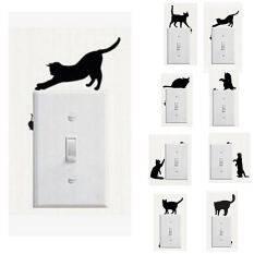 ขาย Cats Cartoon Light Switch Stickers X8 สติ๊กเกอร์ติดสวิตช์ไฟ รูปแมว 8 แผ่น 8 ลาย ถูก