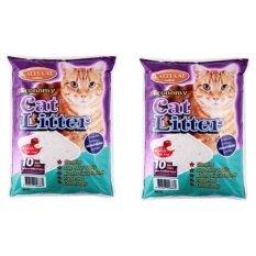ส่วนลด สินค้า Cattycat ทรายแมว กลิ่นแอปเปิ้ล ขนาด 10 ลิตร 2 Units