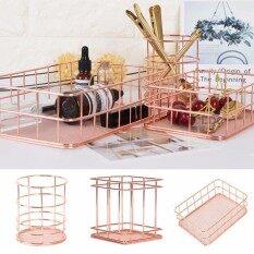 ราคา Caveen Modern Copper Rose Gold Wire Mesh Storage Basket Kitchen Bedroom Bathroom(Square) Intl ใหม่ล่าสุด