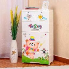 ซื้อ ตู้ลิ้นชัก Ch58 5 ชั้น ลายหมี To Sing ถูก ใน กรุงเทพมหานคร