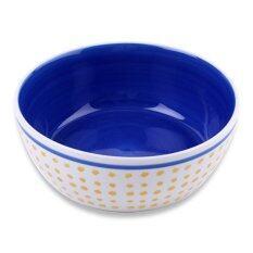 Chabatree Mame ชาม ถ้วย สลัด  ลาย จุด - สีน้ำเงิน .