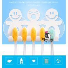 ขาย Chanee ที่แขวนแปรงสีฟันครอบครัว ที่แขวนสิ่งของอเนกประสงค์ 2 Pcs Set White ถูก Thailand