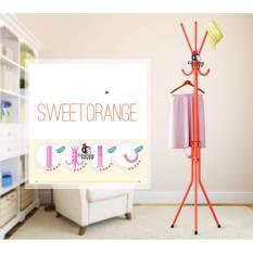 Chanee Coat Rack Floor Standing ที่แขวนสูท หมวก เสื้อโค้ต กระเป๋าและร่ม Orange กรุงเทพมหานคร