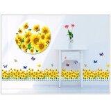 ราคา Chanee Pvc Sticker สติ๊กเกอร์ติดผนัง ติดกระจก รุ่นขายดี Sunflower Thailand