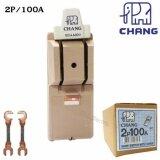 ราคา Chang คัทเอาท์ สับทางเดียว 2P 100A พร้อมฟิวส์ก้ามปู X 2 ตัว มูลค่า 20 บาท Chang เป็นต้นฉบับ