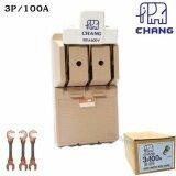 ขาย Chang คัทเอาท์ สับทางเดียว 3P 100A พร้อมฟิวส์ก้ามปู X 3 ตัว มูลค่า 30 บาท Chang