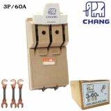 ราคา Chang คัทเอาท์ สับทางเดียว 3P 60A พร้อมฟิวส์ก้ามปู X 3 ตัว มูลค่า 30 บาท ใหม่