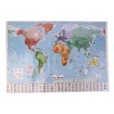 ขาย ซื้อ ออนไลน์ Cheer Multicolor 97 5 X 67 5 Large World Map English French Wall Chart Teaching Poster Intl