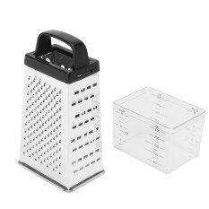 โปรโมชั่น Cheese Grater Vegetable Slicer Shredder Stainless Steel 6 Sides With Container Intl ถูก