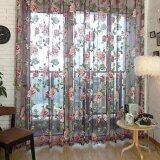 ขาย Chic Style Room Floral Tulle Voile Window Curtain Wine 100 250Cm Unbranded Generic ใน จีน