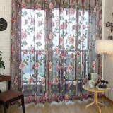 ซื้อ Chic Style Room Floral Tulle Voile Window Curtain Wine 100 250Cm Intl ใน จีน