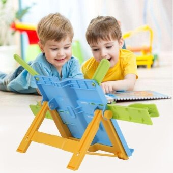 Children Portable ABS Book Holder Reading Stand with Adjustable Legs Protect Eyes (Blue) - intl