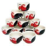 ซื้อ ชุดจอกน้ำชา แก้วน้ำชา เซรามิค ลายไก่ 12ชิ้น ออนไลน์ ถูก