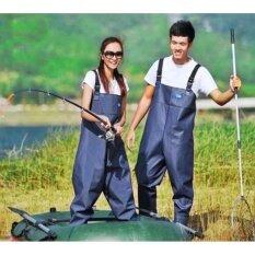 ซื้อ ชุดเอี๊ยมกันน้ำ Pvc ชุดยาง ทำสวนกันน้ำ แบบหนา ไซส์ 45 ขนาดเท้า ถูก สมุทรปราการ