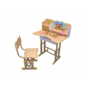 ชุดโต๊ะนักเรียน + เก้าอี้เเด็ก (สีครีม)