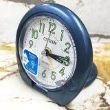 โปรโมชั่น Citizen นาฬิกาปลุกฝาพับ รุ่น C8223 Blue ทรงกลม สีน้ำเงินเมทัลลิก ตัวเลขอารบิกพรายน้ำสีเขียว ถูก