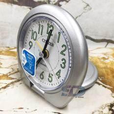 ซื้อ Citizen นาฬิกาปลุกฝาพับ รุ่น C8223 Silver ทรงกลม สีเงิน ตัวเลขอารบิกพรายน้ำสีเขียว ถูก ใน กรุงเทพมหานคร