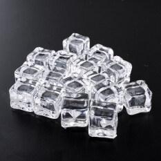 ขาย Clear Lifelike 16Pcs Fine Artificial Acrylic Ice Cubes Crystal Barwar Home Intl เป็นต้นฉบับ