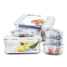 ราคา Clip Pac ชุดกล่องถนอมอาหาร 10 ชิ้น รวมฝา ออนไลน์ ไทย