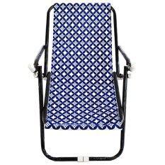 Cn Furnitech เก้าอี้พักผ่อน 58X110X64ซม ลายวงกลมน้ำเงิน เป็นต้นฉบับ