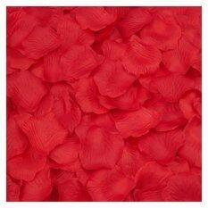 ราคา Coconie 2000ชิ้นผ้าดอกกุหลาบกลีบดอกไม้ประดิษฐ์การตกแต่งงานแต่งงานโปรดปรานสีแดง ใหม่