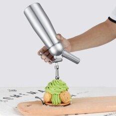 Cocotina 500 มิลลิลิตรอะลูมิเนียมพกพาครีมวิปปิ้งครีมที่จ่ายทำเนย Whipper เครื่องตีทำฟอง.