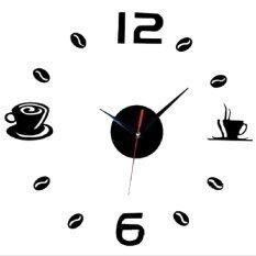 ราคา Coffe Time Acrylic Diy Adhesive Interior Wall Creative Decoration Digit Clock เป็นต้นฉบับ