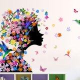 Colorful Flower Fairy Removable Vinyl Decal Wall Sticker Mural Art Bedroom Decor Intl เป็นต้นฉบับ