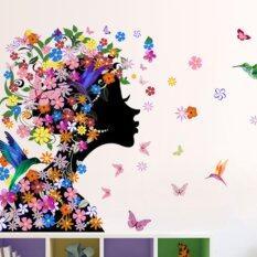 ขาย Colorful Flower Fairy Removable Vinyl Decal Wall Sticker Mural Art Bedroom Decor Intl ถูก ใน จีน