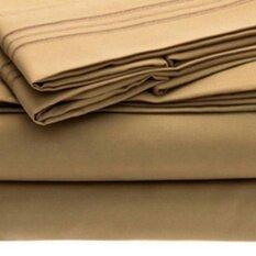 ราคา Comfortable Stylish Bed Set 4 Pieces Plain Colored Flat Sheet Fitted Sheet Pillowcases Wedding Housewarming Gift Color Camel Dimensions Queen Intl ใหม่ล่าสุด