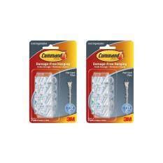 ราคา Command™ Clear Flat Cord Clips W Clr Strips 17305Clr คอมมานด์เคลียร์ พร้อมตัวยึดสายไฟแบบแบน แพ็ค 2 ชิ้น ใหม่ ถูก