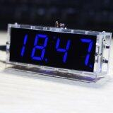 ราคา Compact 4 Digit Diy Digital Led Clock Kit Light Control Temperature Date Time Display With Transparent Case Intl Unbranded Generic ใหม่