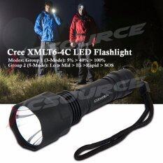Convoy ไฟฉาย C8 Cree Xm L2 U2 1A 3 5 Mode Edc Ak47 Led Flashlight Torche Lantern เป็นต้นฉบับ