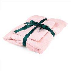 ส่วนลด Cozy Plus ชุดผ้าขนหนูใยไผ่ 2 ชิ้น รุ่น Premium สีชมพู 70 X 140 ซม และ 34 X 76 ซม