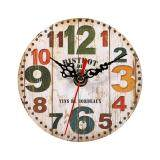 Creative Antique Wall Clock Vintage Style Wooden Round Clocks Home Office Decoration 3 Intl ใหม่ล่าสุด