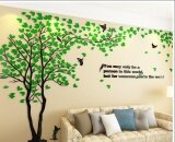ขาย Creative Tree 3D Stereo Acrylic Wall Stickers Living Room Sofa Tv Background Wall Interior Room Warm Decoration Tree On The Left Green Intl Zmgang